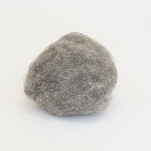 Gray Wool for Wet Felting, Tyrolean Bergschaf