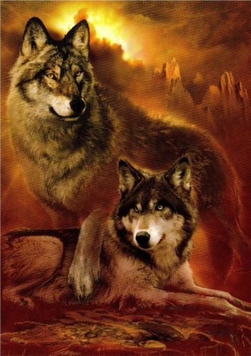 Wolf Art Wolves Note Card Matching Envelope Wild Animal Wolf Blank Card