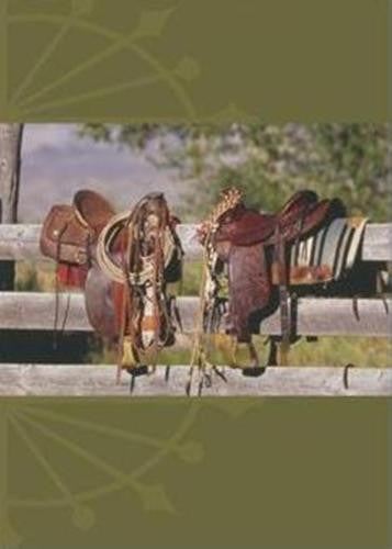 Western Art New Birthday Card Western Saddle Birthday Message Matching Envelope