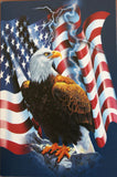Patriotic American Eagle United States Flag New! Blank Note Card Set Photo Tin