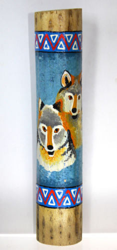 Wolf Home Decor Wolves Dried Cactus Rain Stick Seed Rattle
