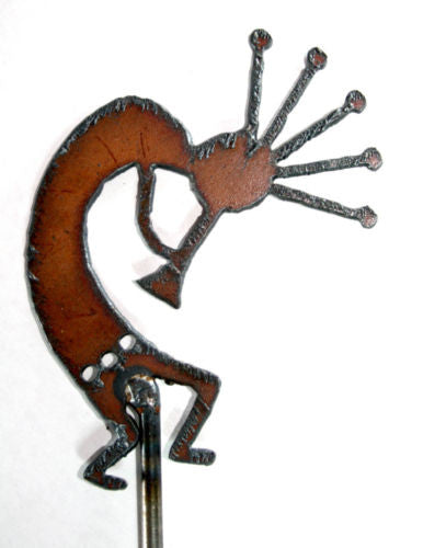 Rustic Metal KOKOPELLI Southwestern Decor Yard Art Plant Stake
