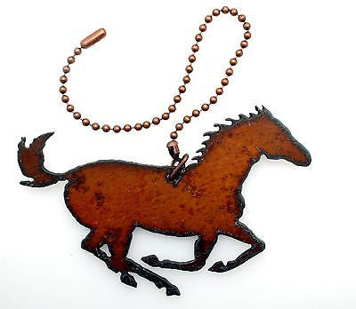 Rustic Home Decor Metal Fan Light Pull Western Horse Kokopelli Roadrunner Moose Star