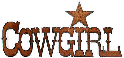 Rustic Western Decor Rustic Metal Sign Cowgirl Decor
