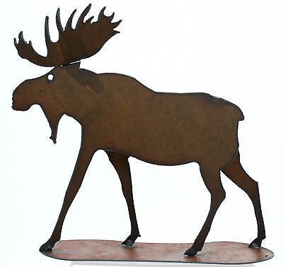 Rustic Home Decor Metal Moose Figurine Free Standing Moose