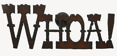 Rustic Country Kitchen Magnet  Western Funny  Whoa! Cowboy Rodeo