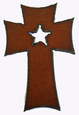 Southwestern Decor Rustic Metal Cross Kitchen Magnet