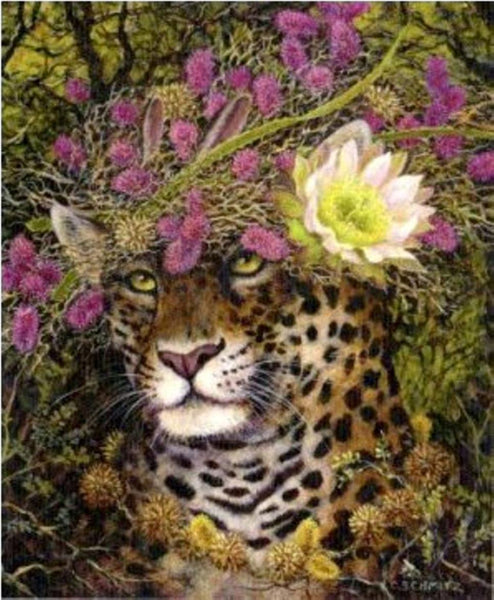 Southwestern Art Sonoran Jaguar Cactus Fibers Blank Note card blank envelope