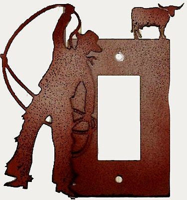 Western Home Decor Cowboy Lasso Decorative Light Switch Rodeo Cowboy Up