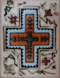 Southwestern Home Decor Ceramic Tile Kitchen Trivet Cross Design