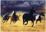 Western Home Decor New Blank Note Card Set Tree Free Box GREETING CARDS Wild Horses