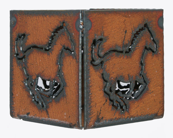 "Western Home Decor 3"" candle holder Rustic Metal Horse Candle holder"
