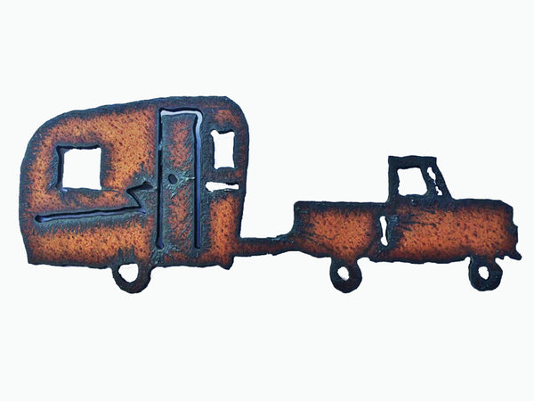 Glamping Decor vintage Metal Travel Trailer Rustic Magnet Kitchen Magnet