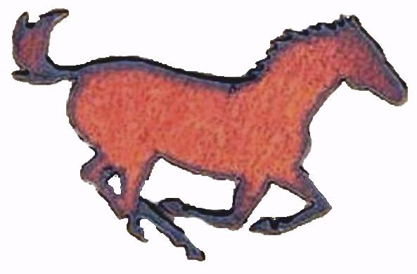 Western Home Decor Rustic Kitchen Decor Running Horse Rustic Metal Magnet