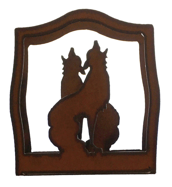 Rustic Metal Coyote Southwestern Home Decor Napkin Holder
