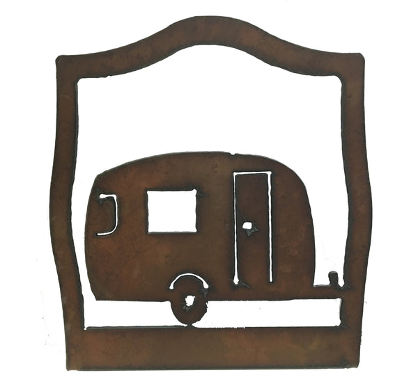 Vintage Trailer Glamping Rustic Metal Home Decor Napkin Holder