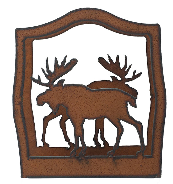 Moose Lodge Cabin Home Decor Rustic Metal Napkin Holder