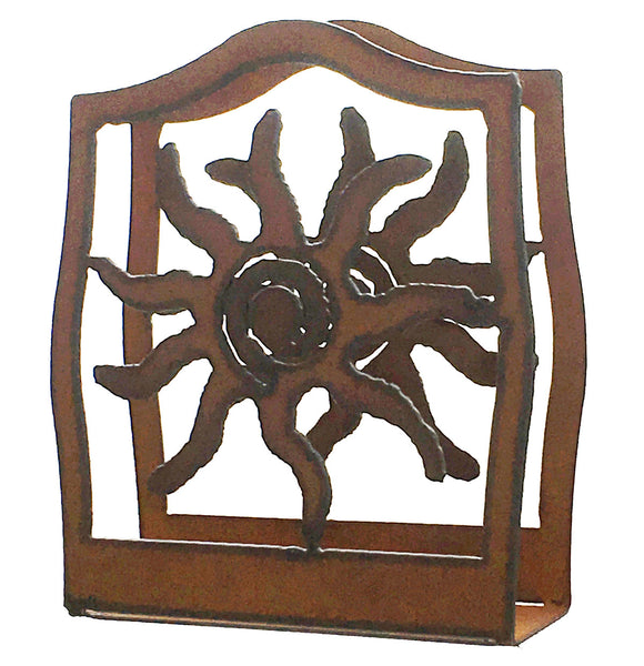 Rustic Metal Sun Southwestern Home Decor Napkin Holder