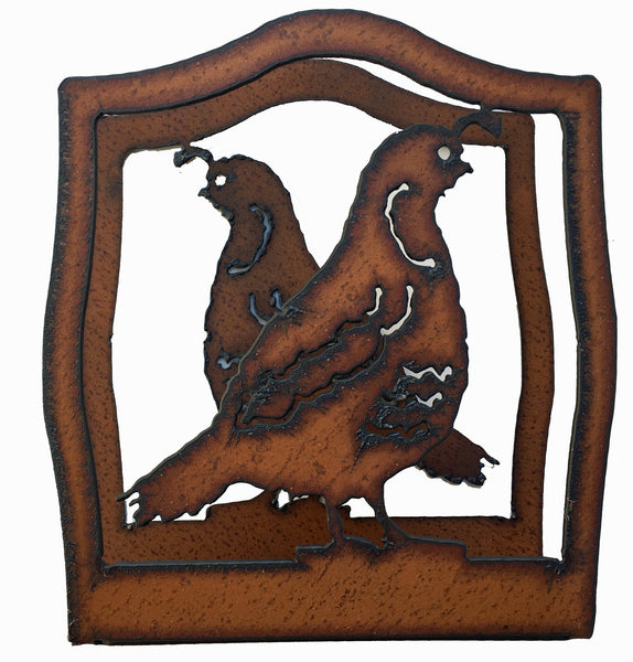 Southwestern Home Decor Rustic Metal Quail Napkin Holder