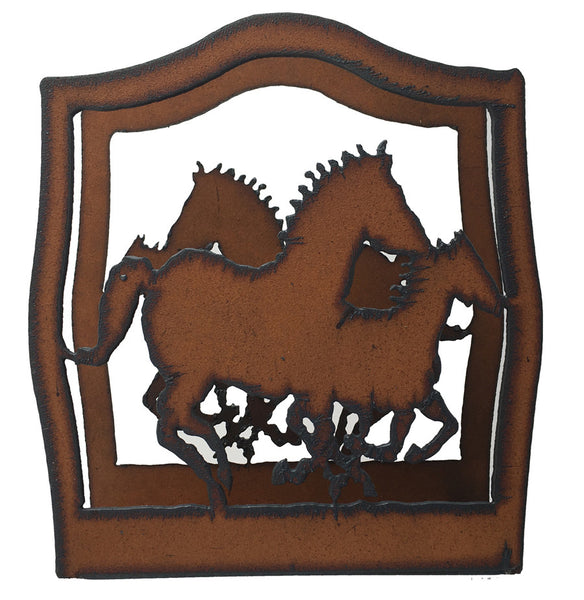 Horse Western Home Decor Rustic Metal Napkin Holder