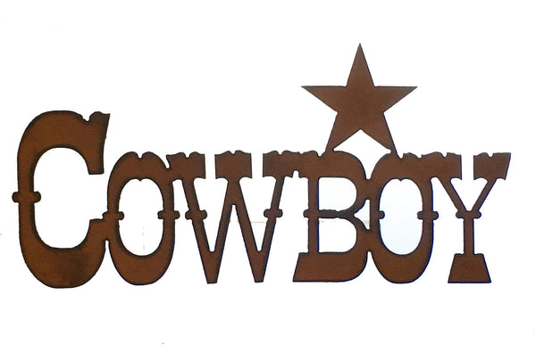 Cowboy Star Western Wall Decor Rustic Metal Sign Cowboy Decor