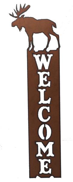 Lodge Decor Rustic Metal Moose Welcome Sign Front Door Welcome
