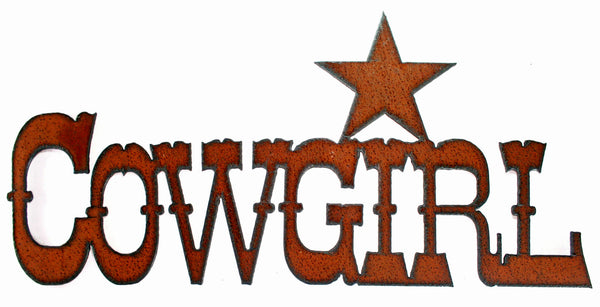 Cowgirl Star Western Wall Decor Rustic Metal Sign Cowgirl Kitchen Decor