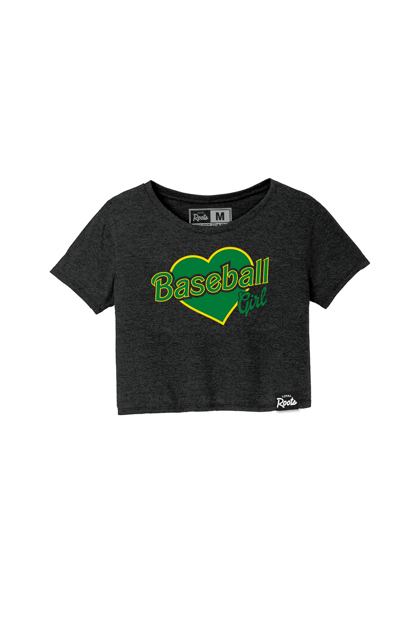 Baseball Girl OAK (Women's Crop Top)