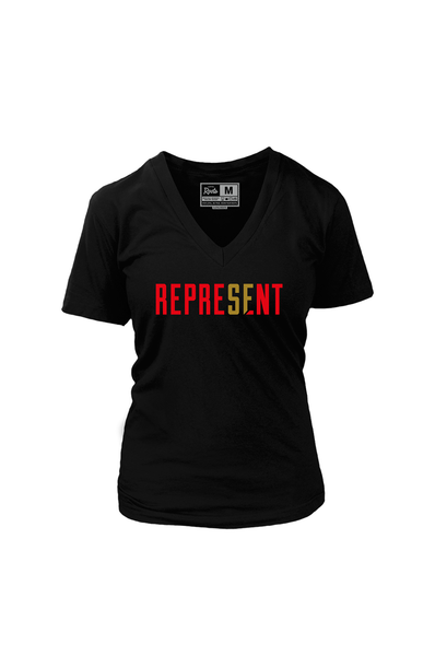 Represent SF (Women's V-Neck)