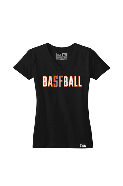 SF Baseball (Women's V-Neck)