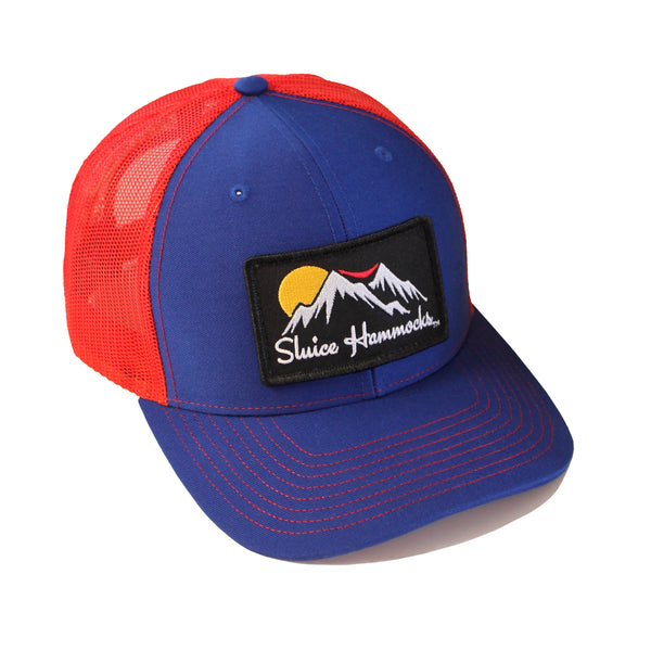 Red & Blue Sluice Hat
