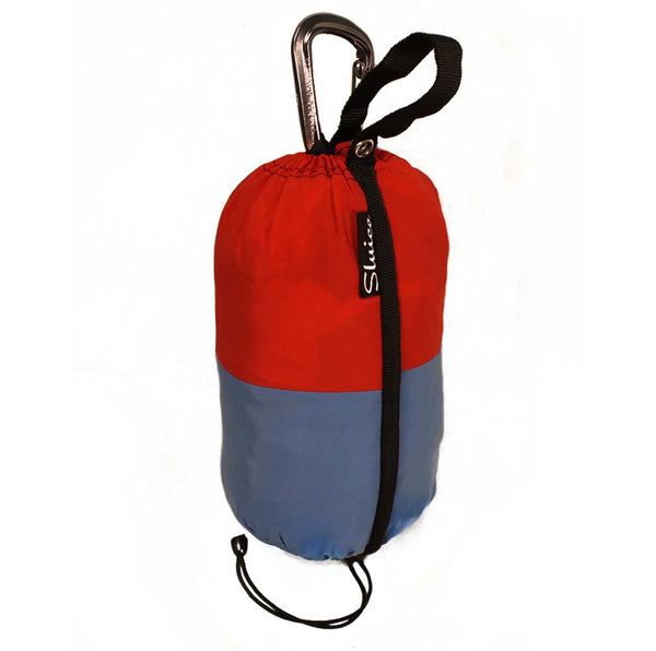Sluice Hammocks Double Blue Red Carabiner
