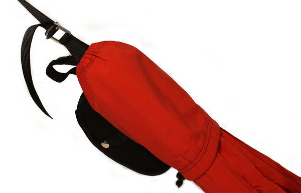 Sluice Hammocks Infinity Single Setup Red with Straps