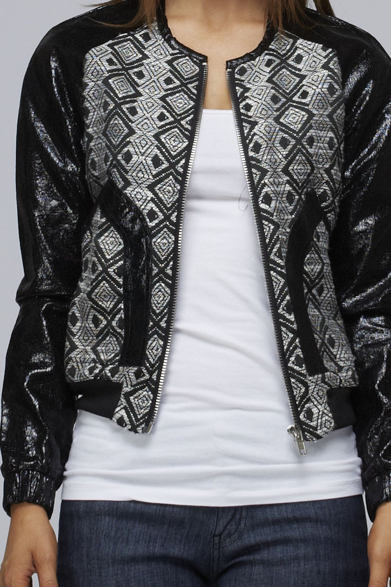 Embroidery Metallic Black Jacket