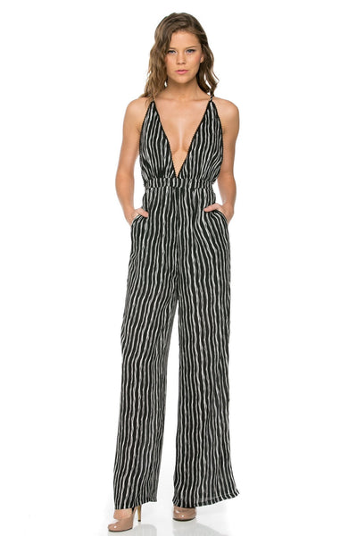 V-neck Sexy Jumpsuit