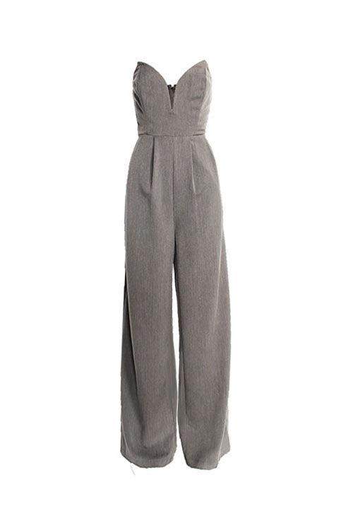 Strapless Wide Jumpsuit