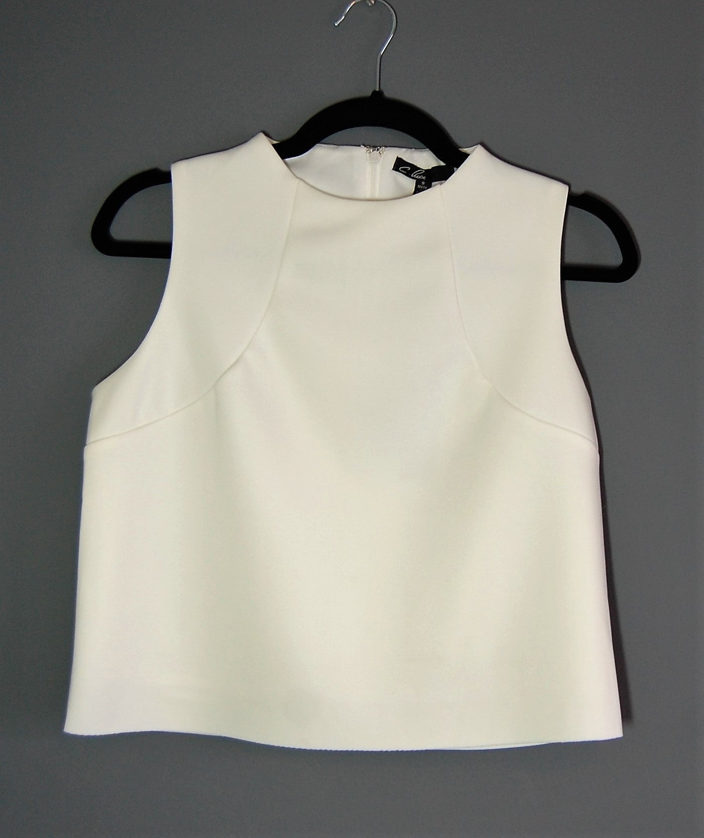 Neoprene Sleveless Crop Top