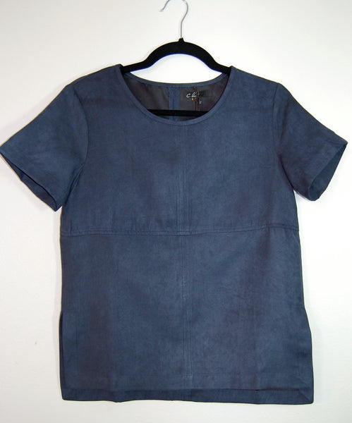 Suede Boxy Top