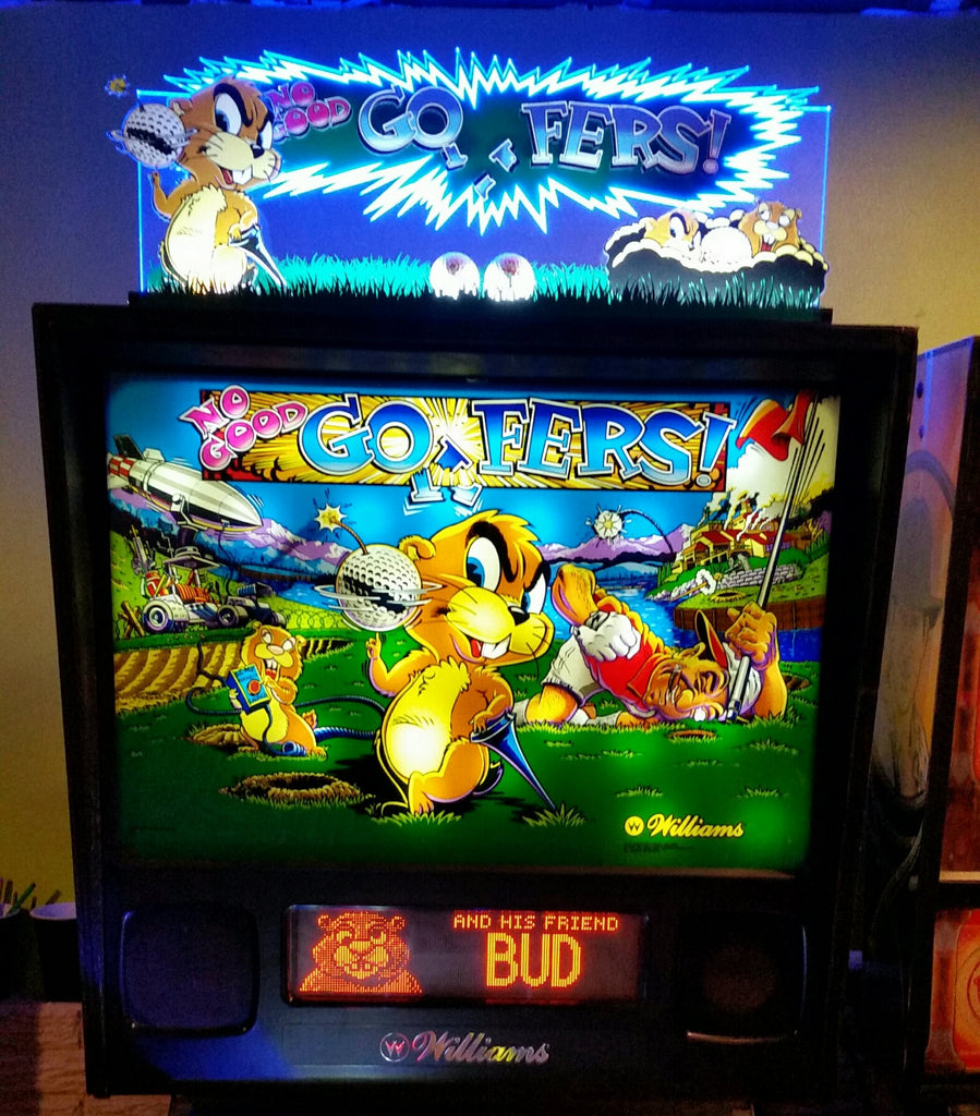 No Good Gophers Pinball Topper