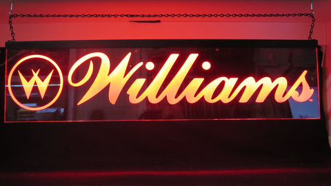 "32"" x 8"" WILLIAMS Hanging RGB LED Lit Sign"