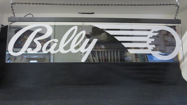 "32"" x 8"" BALLY Hanging RGB Lit Sign"