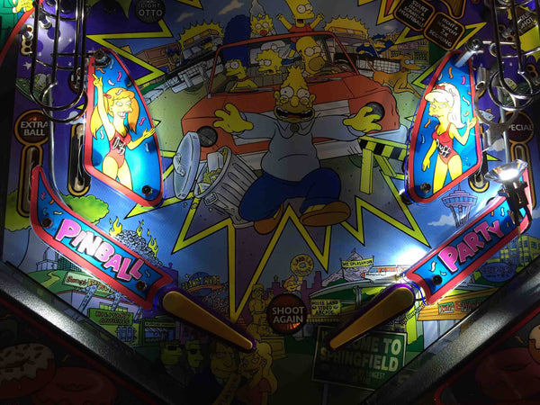 Simpsons Pinball Party Plastic Protectors