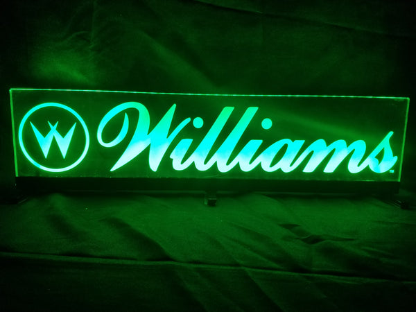 Williams Logo Pinball Topper