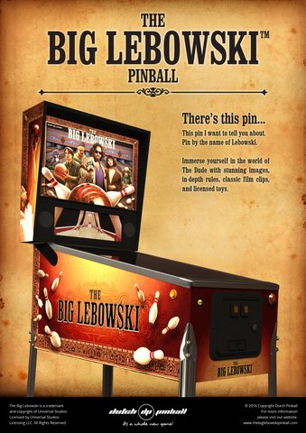The Big Lebowski Pinball Machine *DEPOSIT ONLY*