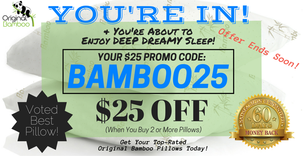 Original Bamboo Pillow Discount