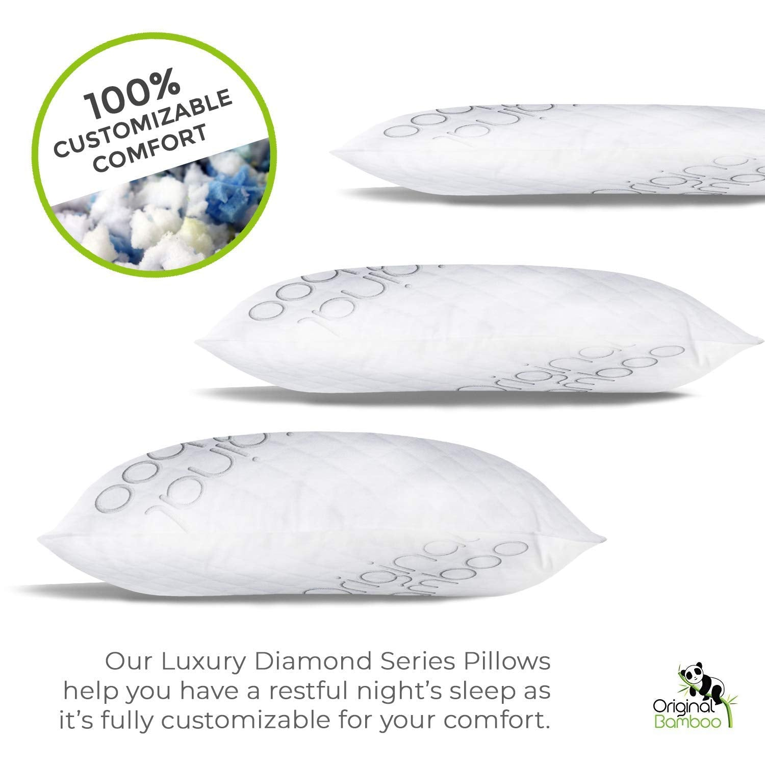 Premium Luxury Shredded Memory Foam Adjustable Pillow