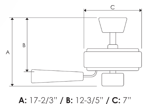 decca fan dimensions