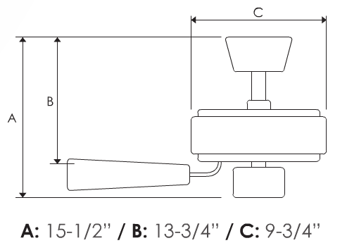 Fernleaf breeze fan dimensions