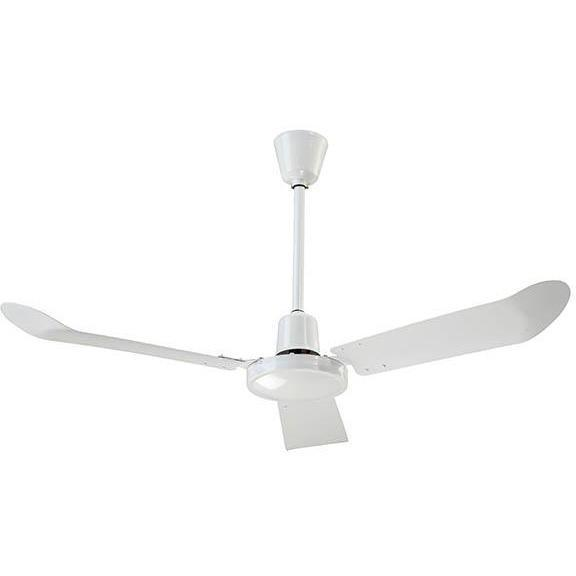 "Canarm Standard White Industrial Fan with 36"" Downrod and Forward / Reverse"