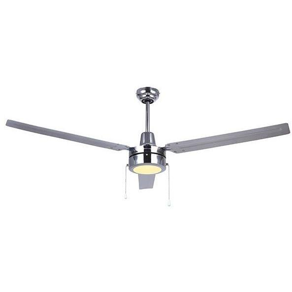 "Canarm Industrial Style Chrome 56"" LED Ceiling Fan"